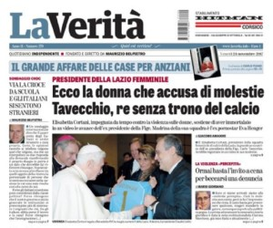 Grande rilievo di stampa al caso Cortani-Tavecchio